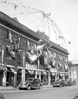 Foreign Colonies; Chinese. Third Street decorated for Chinese Merchants convention. 1 neg