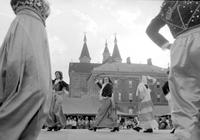 "Foreign Colonies; Greek. ""Athenian Dancers"" in Greek Festival, Greektown"