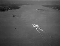 "Aero; Aircraft; Cambria ""British"" Over Belle isle; Landing; Sept-23-1937; Imperial Airways Transatlantic Liner Pioneering Atlantic Air Route"