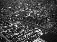 Business Houses; Chevrolet Motor; Detroit; Forge Plant; Euclid Avenue in the Foreground; 5-15-1936