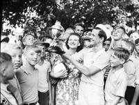 "Pennington, Jack. Detroit News soap box derby winner. (see also:  ""Sweeney, Pete. ""). Date is 1938"