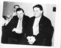 "Reuther, Walter  P. ; Labor Leader; Groups 1937; . with Richard Frankensteen (""Battle of the Overpass"")."