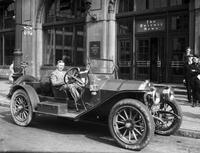 Scripps, William E. ; Automobiles & Stoddard Dayton 1910 Car he owned when new and 1934 owner Frank Schmidt