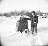 Alaska; Homesteaders; 59'ers. Ed Pipp visit in Feb 1963