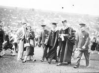 Ford, Henry; Education. Having Degree Conferred on Him at U of M with President Little, With Dr. K. Lake with Mr. A. Jeffers with Surf Whyte.