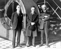Ford, Henry; Groups. - with Edsel Ford and Charles Chaplin