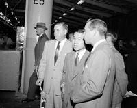 Japan; Royal Family. Prince Akihito. in Detroit. with William Clay Ford & Jack Murphy.