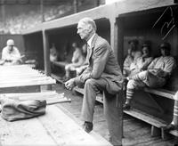 Mack, Connie; Baseball. -Old Photos In Dugout
