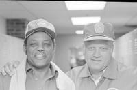 Mays, Willie; Baseball Superstar; In Detroit as Goodwill Ambassador for the 1974 Help Young America Campaign. -With Vic Wertz