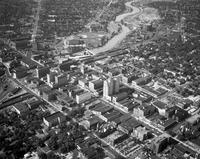 Michigan; Cities; Flint. Aerial.