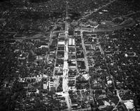 Michigan; Cities; Flint. General view. Up Saginaw St.
