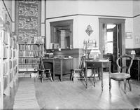 Michigan; Cities; Grosse Isle. library. interior & exterior. Old Michigan Central Railway depot