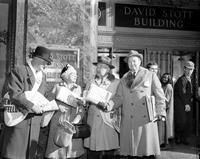 Old Newsboys; Detroit; Selling Papers; 1957