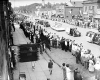 Michigan; Cities; Lapeer. floats. Centennial exhibition.