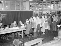 Packard Motor Car Co. Employees voting on union