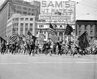 Parades; Memorial Day; Detroit. -Veterans of Foreign Wars I and II