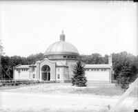 parks; Detroit Zoo. aviary (old). exterior & interior views of bird house