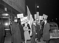 Picketing; Detroit. Picketing Mayfair Ballroom