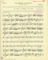 Spanish Dances, Op. 12, Numbers 1,3, and 4. Violin 1 Stand 4