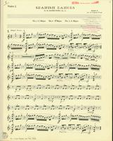 Spanish Dances, Op. 12, Numbers 1,3, and 4. Violin 1 Stand 5