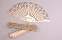 Scalloped Lace Hand Fan