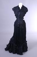 Long Black Ruffled Skirt