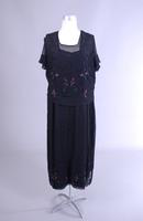 Black Silk Beaded Dress