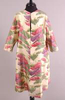 Evening Coat with Pastel Print