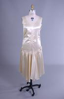Ivory Satin Flapper Dress