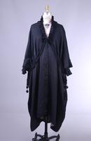 Long Black V-Neck Robe