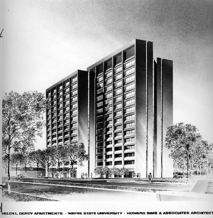 Wayne State University Buildings Helen Deroy Apartments Wayne State University Digital Collections